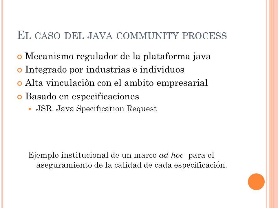 El caso del java community process