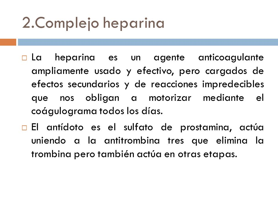 2.Complejo heparina