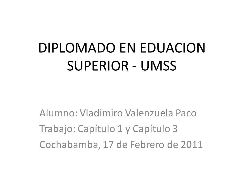 DIPLOMADO EN EDUACION SUPERIOR - UMSS