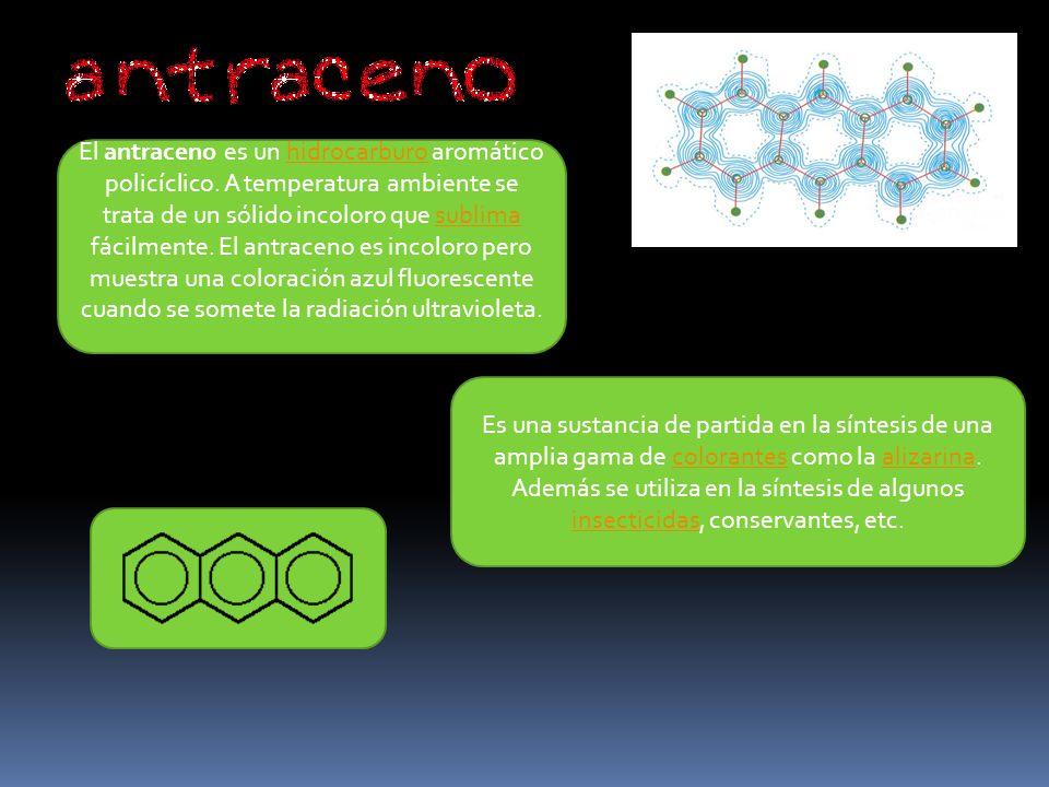 El antraceno es un hidrocarburo aromático policíclico