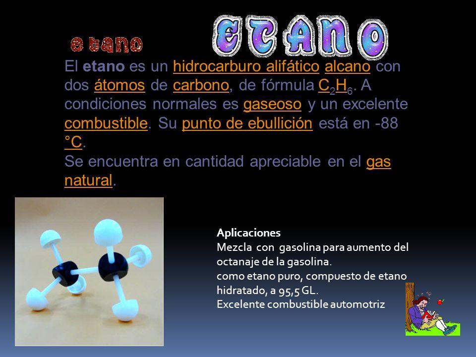 Se encuentra en cantidad apreciable en el gas natural.