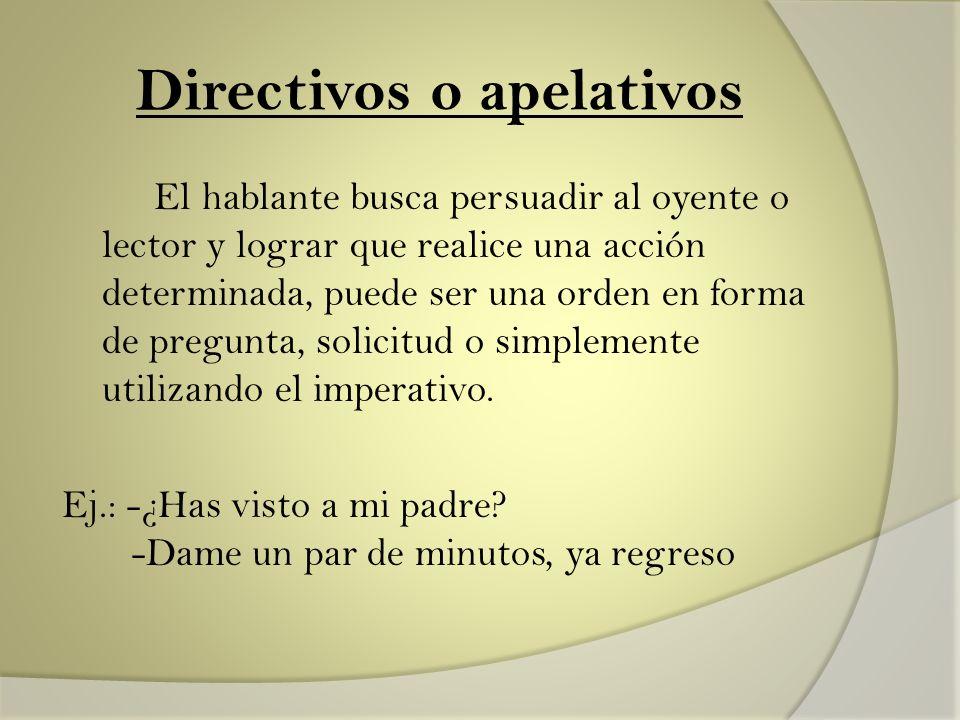 Directivos o apelativos