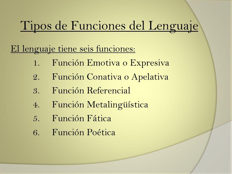 Tipos de Funciones del Lenguaje