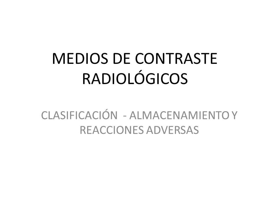 MEDIOS DE CONTRASTE RADIOLÓGICOS