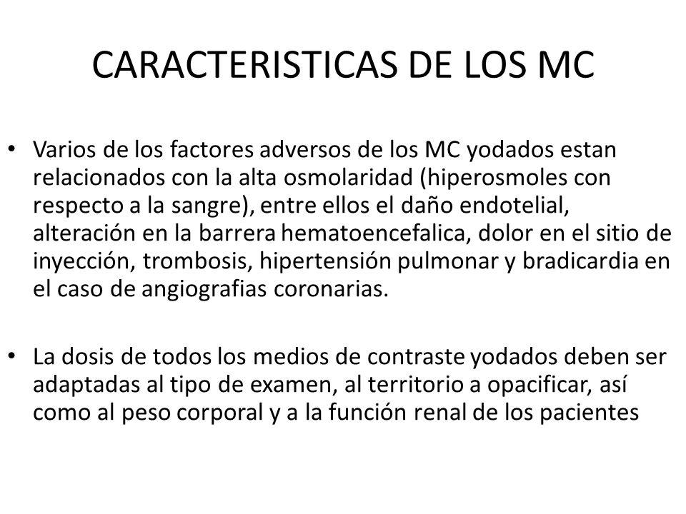 CARACTERISTICAS DE LOS MC