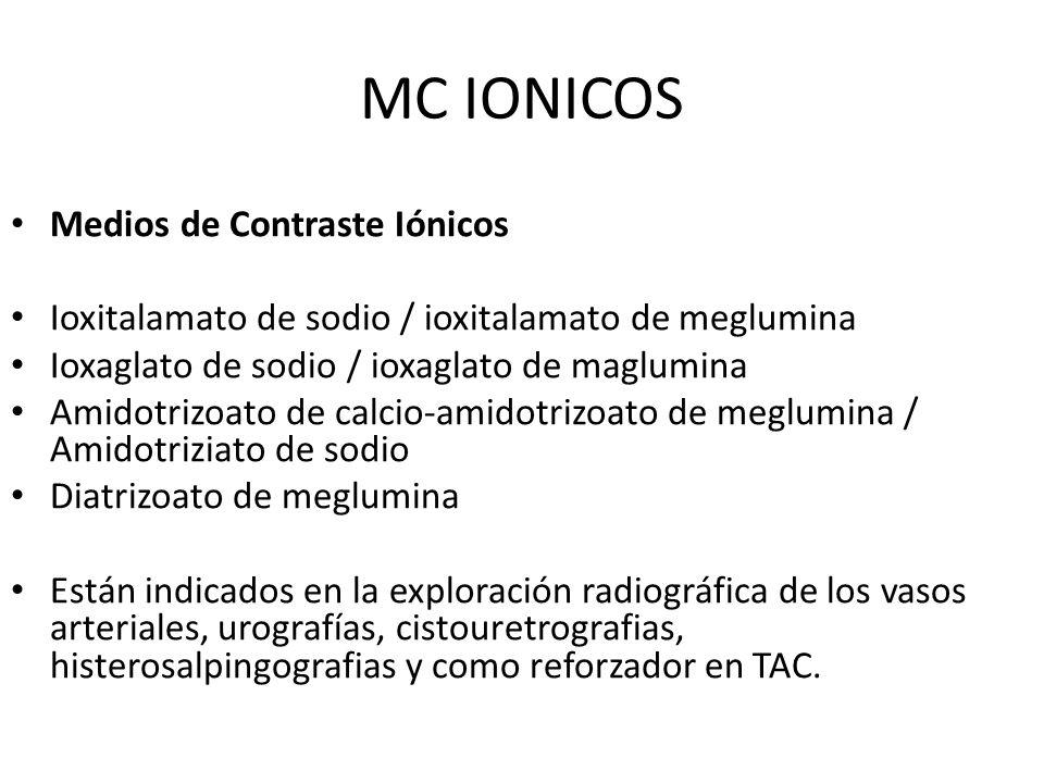 MC IONICOS Medios de Contraste Iónicos