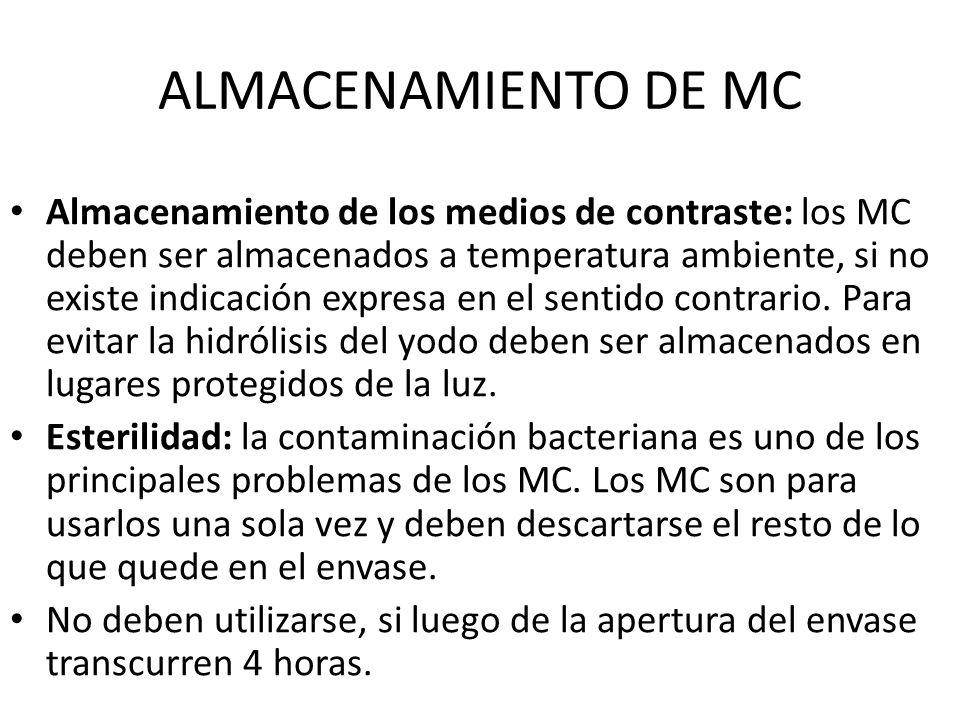 ALMACENAMIENTO DE MC