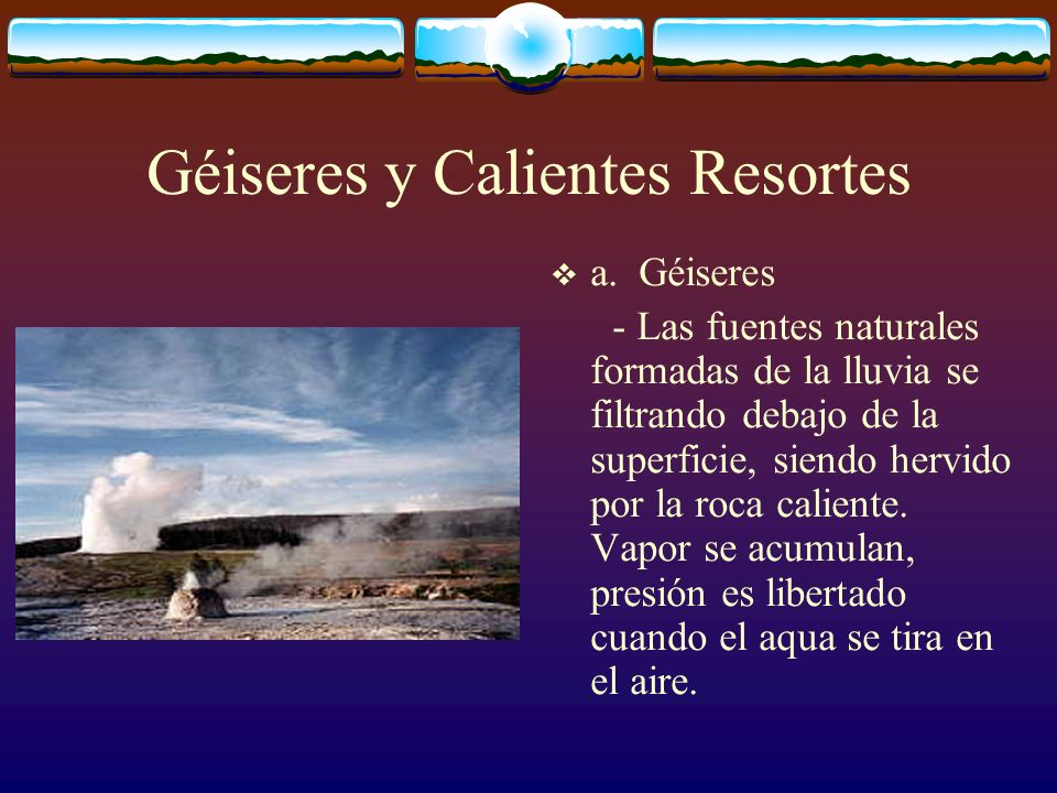 Géiseres y Calientes Resortes