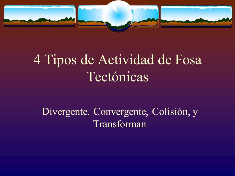4 Tipos de Actividad de Fosa Tectónicas