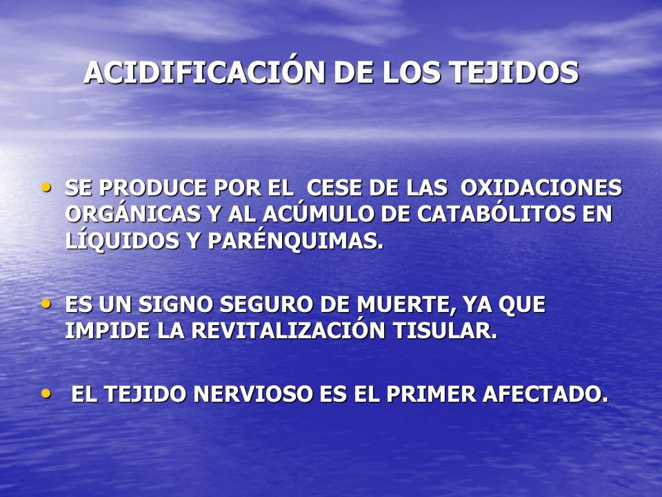 ACIDIFICACIÓN DE LOS TEJIDOS