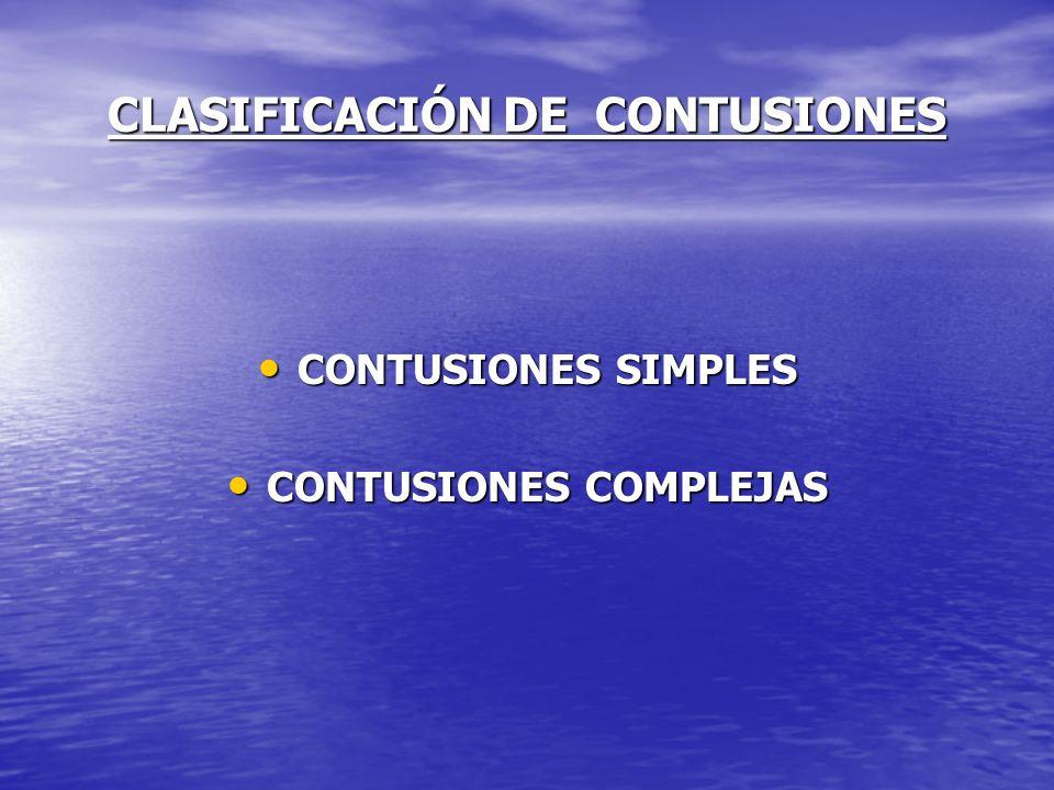 CLASIFICACIÓN DE CONTUSIONES