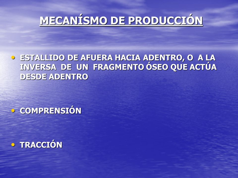 MECANÍSMO DE PRODUCCIÓN
