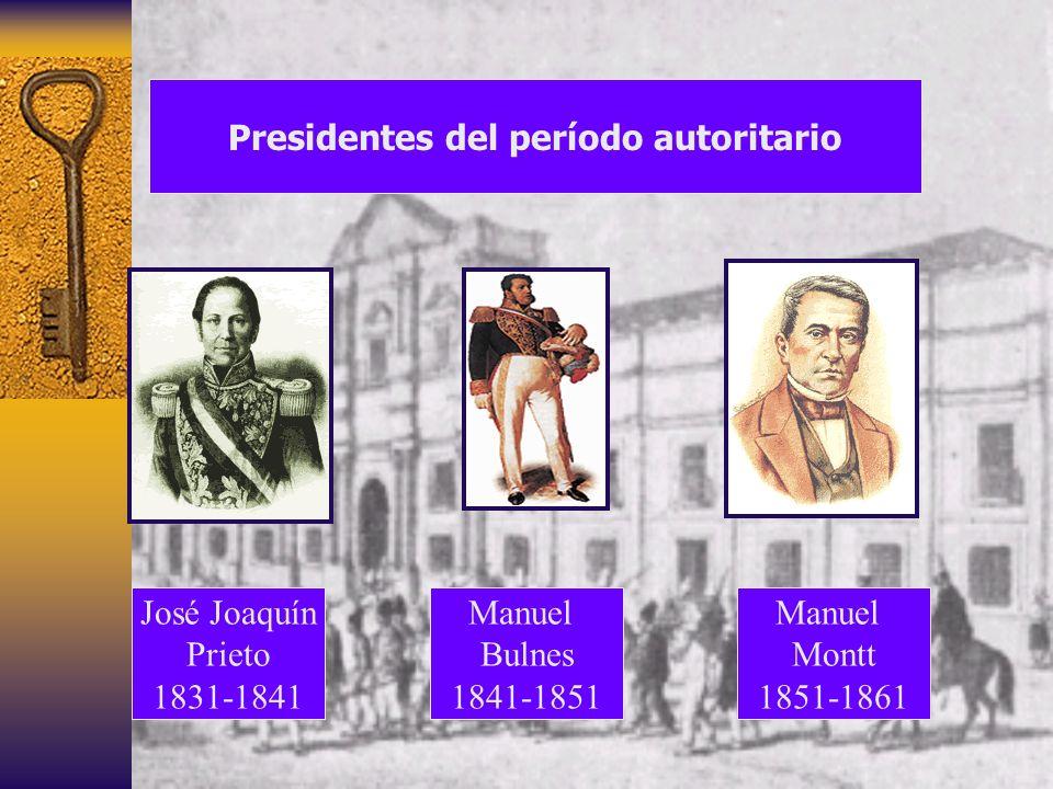 Presidentes del período autoritario