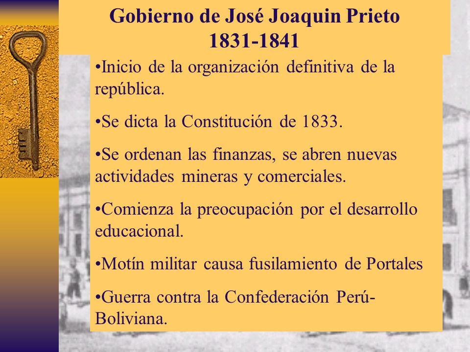 Gobierno de José Joaquin Prieto