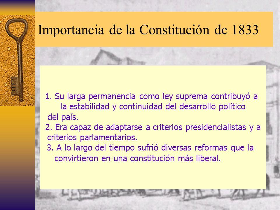 Importancia de la Constitución de 1833