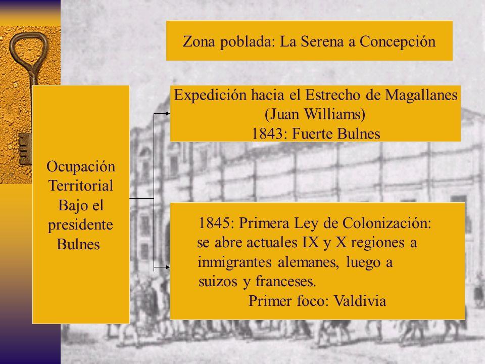 Zona poblada: La Serena a Concepción