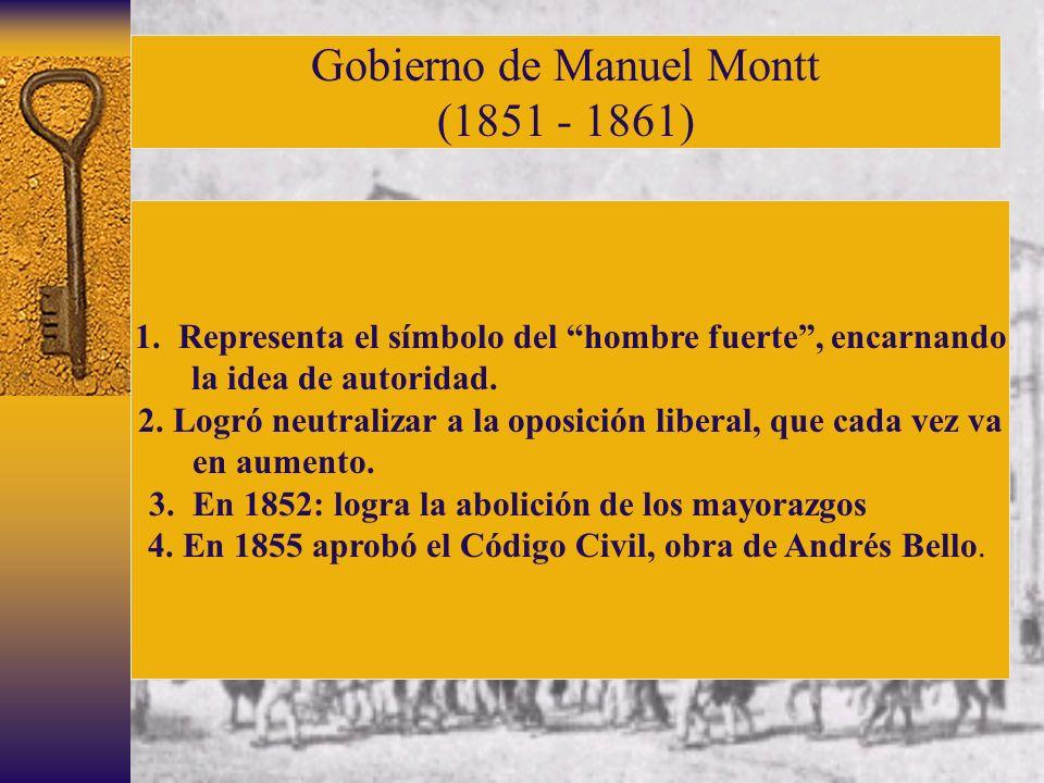Gobierno de Manuel Montt (1851 - 1861)