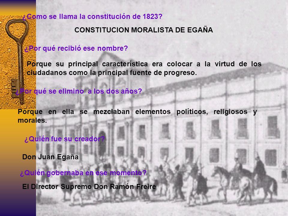 ¿Como se llama la constitución de 1823