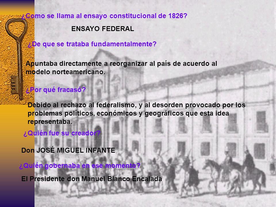 ¿Como se llama al ensayo constitucional de 1826