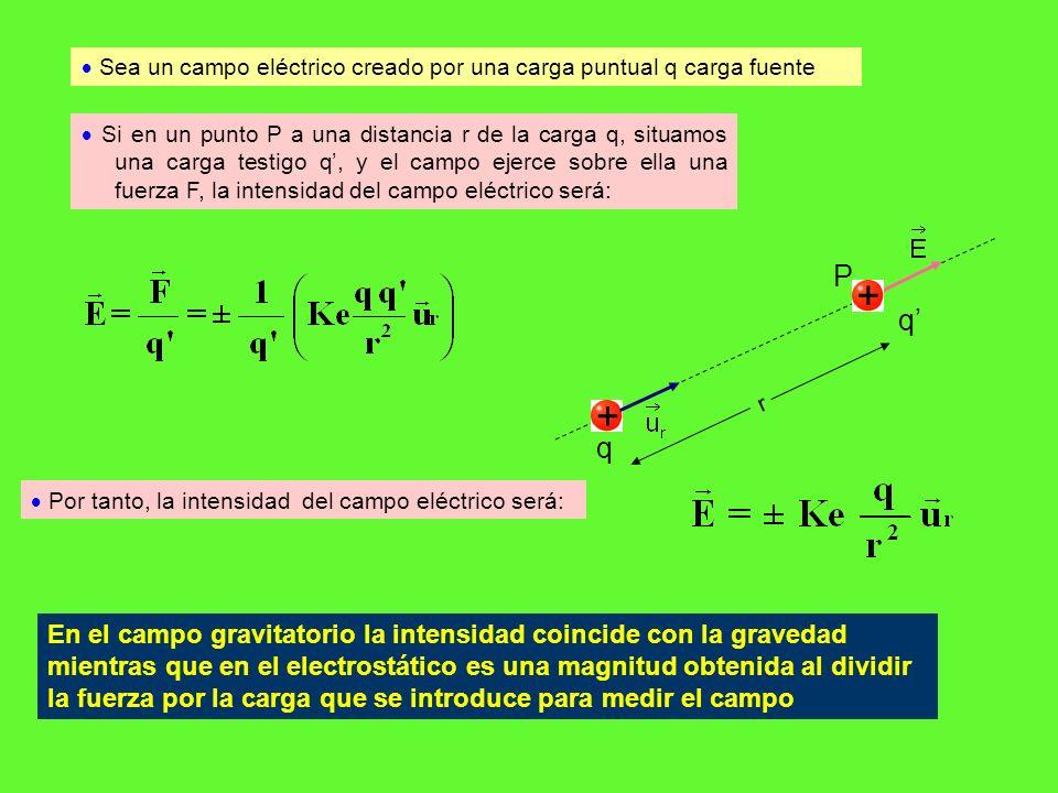  Sea un campo eléctrico creado por una carga puntual q carga fuente