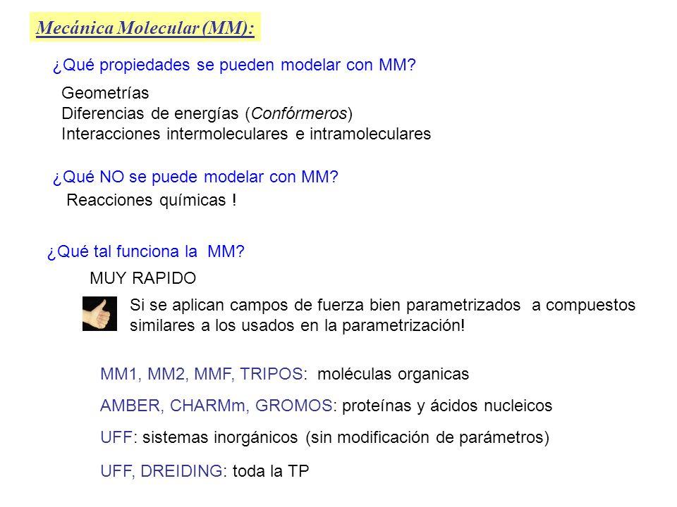 Mecánica Molecular (MM):