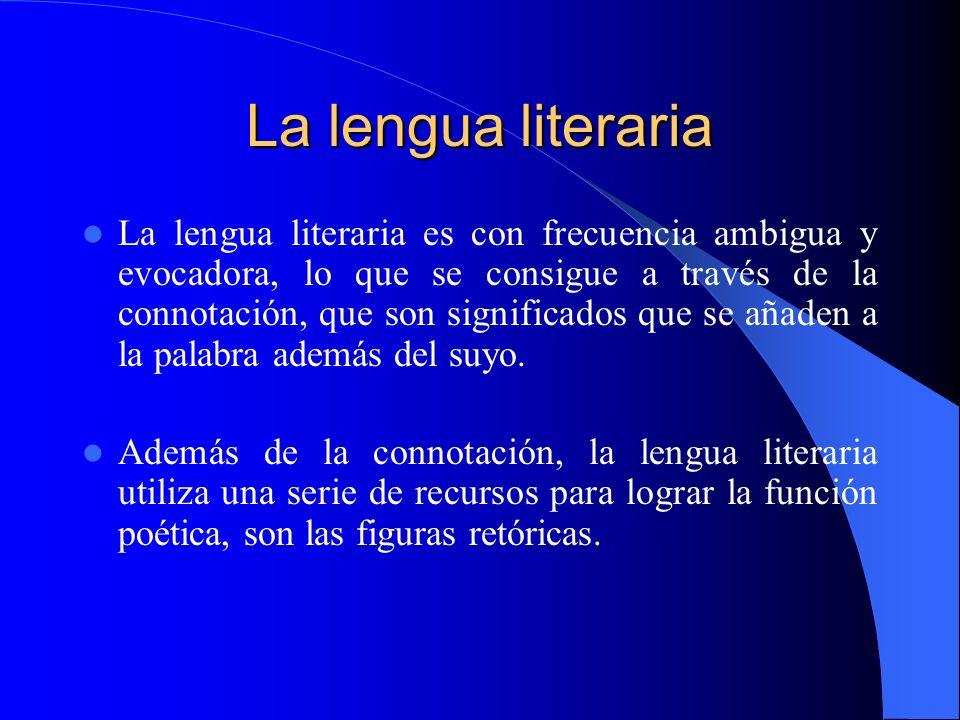 La lengua literaria