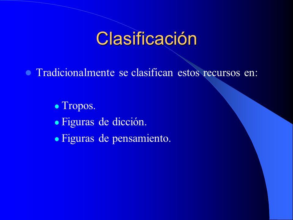 Clasificación Tradicionalmente se clasifican estos recursos en: