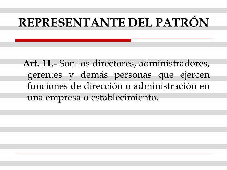 REPRESENTANTE DEL PATRÓN