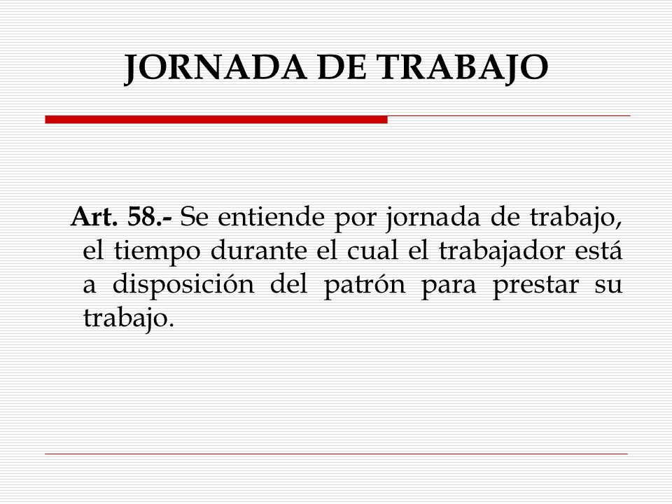 JORNADA DE TRABAJO