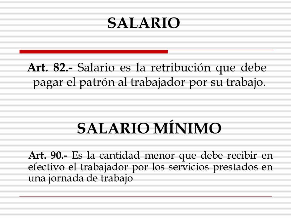 SALARIO SALARIO MÍNIMO