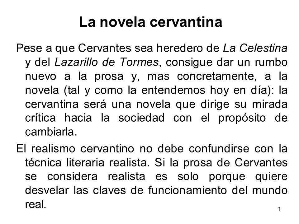 La novela cervantina
