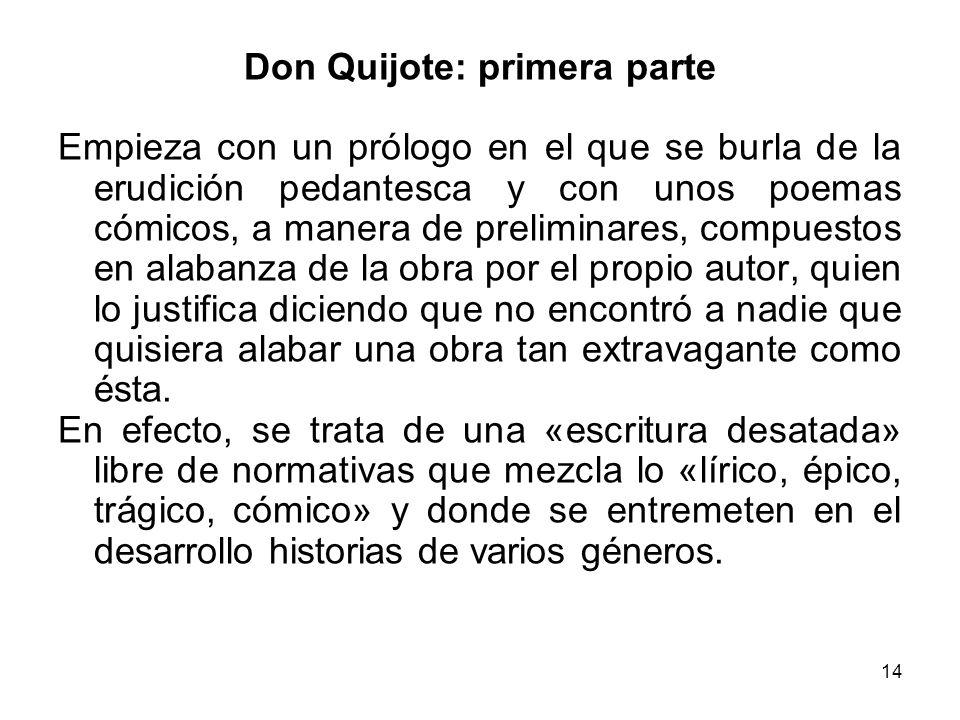 Don Quijote: primera parte