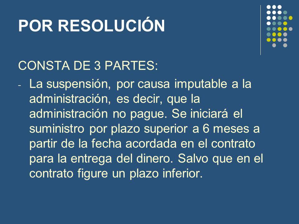 POR RESOLUCIÓN CONSTA DE 3 PARTES:
