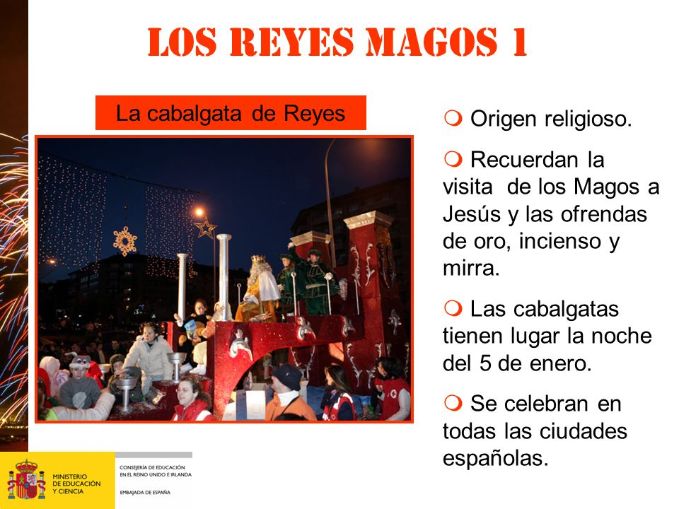 Los Reyes magos 1 La cabalgata de Reyes m Origen religioso.
