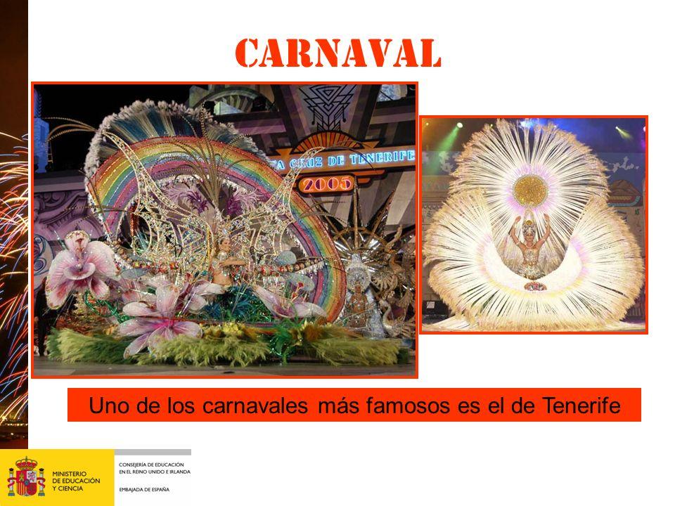 Uno de los carnavales más famosos es el de Tenerife