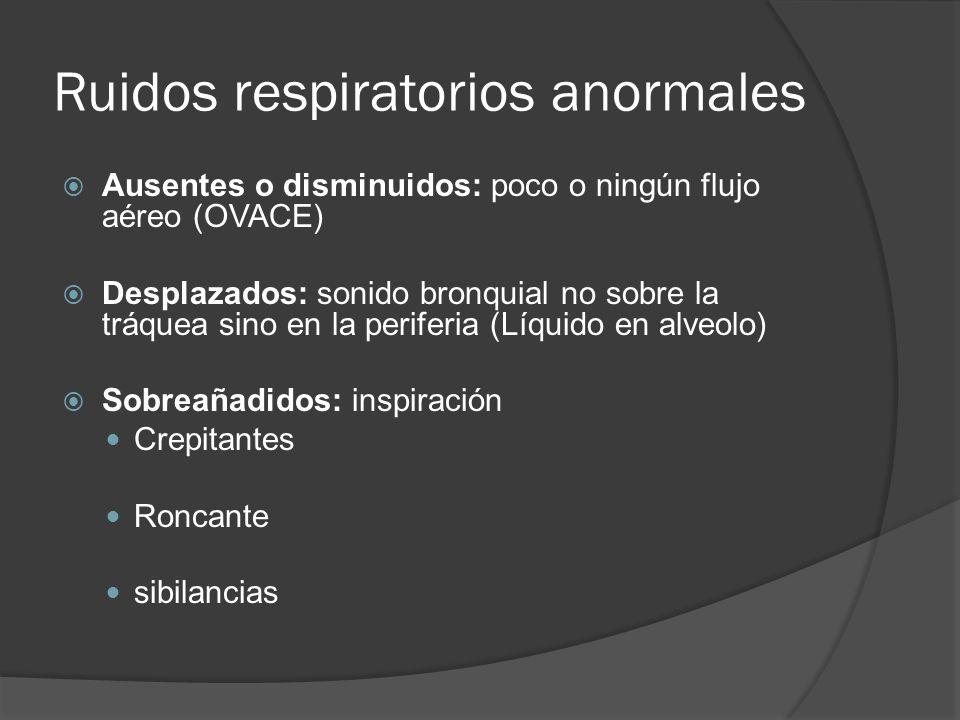 Ruidos respiratorios anormales