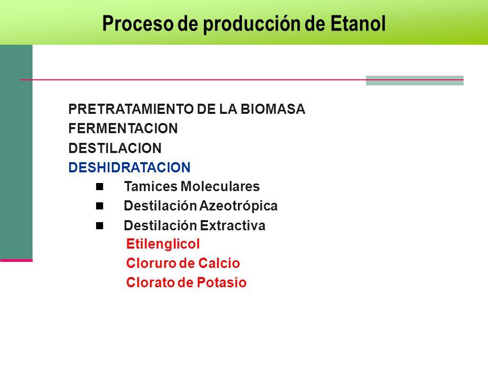 Proceso de producción de Etanol