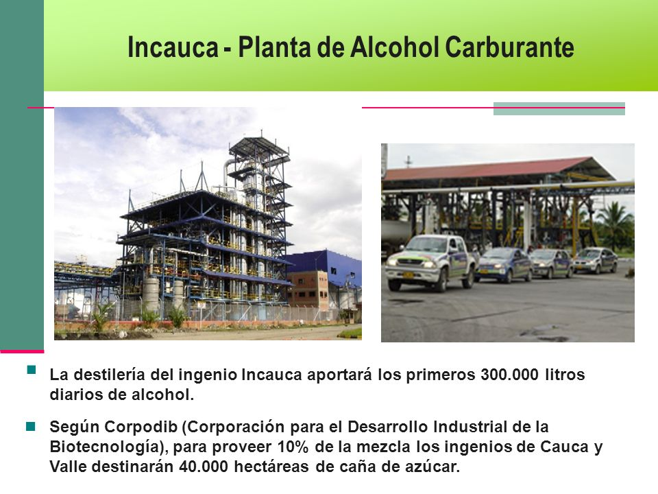 Incauca - Planta de Alcohol Carburante
