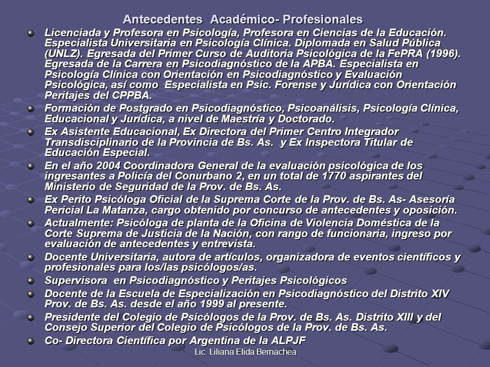 Antecedentes Académico- Profesionales