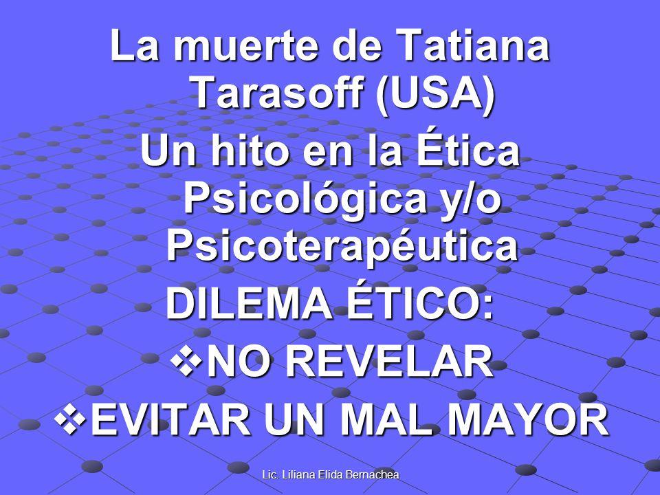 La muerte de Tatiana Tarasoff (USA)