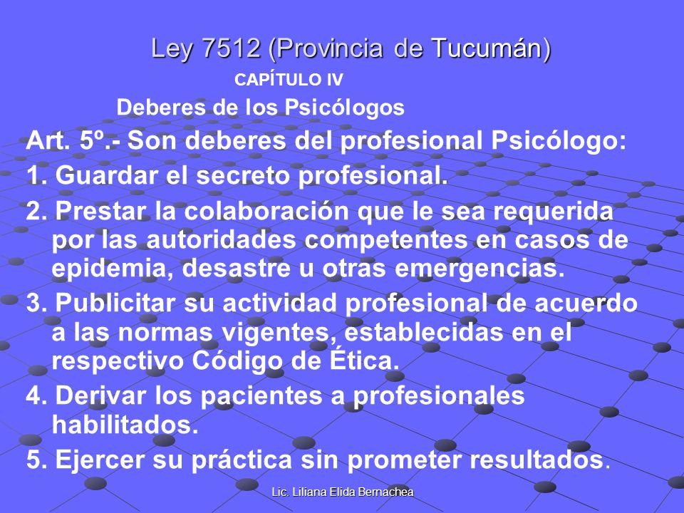 Ley 7512 (Provincia de Tucumán)