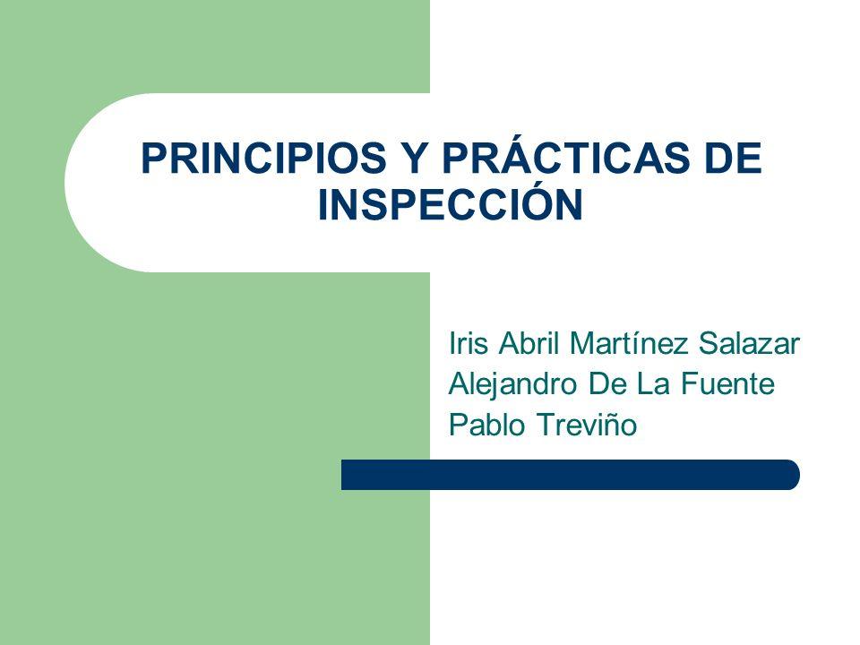 PRINCIPIOS Y PRÁCTICAS DE INSPECCIÓN