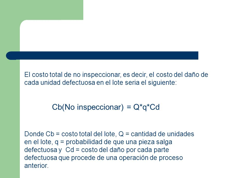 Cb(No inspeccionar) = Q*q*Cd