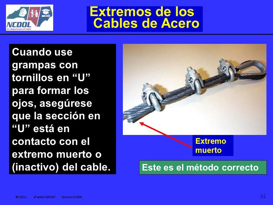 Extremos de los Cables de Acero