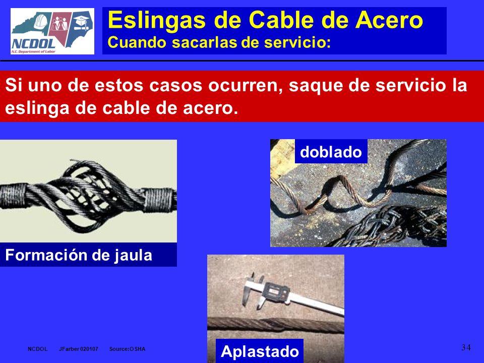 Eslingas de Cable de Acero