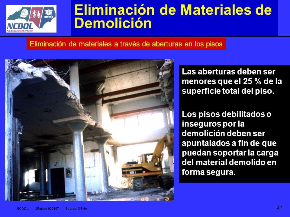 Eliminación de Materiales de Demolición