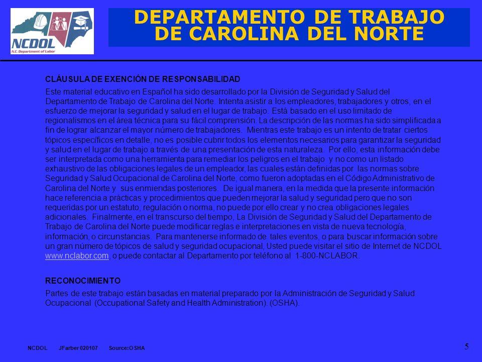 DEPARTAMENTO DE TRABAJO