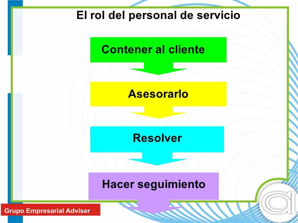 El rol del personal de servicio