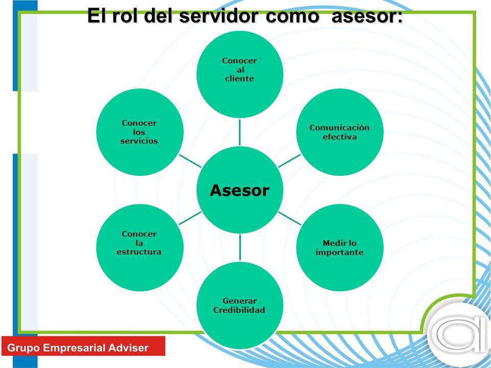 El rol del servidor como asesor: