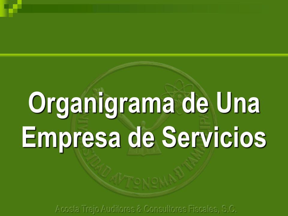 Organigrama de Una Empresa de Servicios